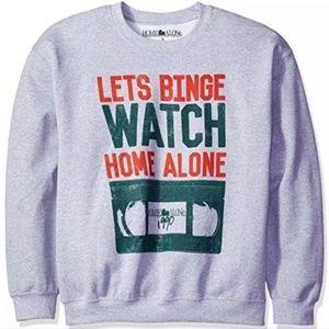 Home Alone Binge Watch Gray Sweater Choose SZ L XL
